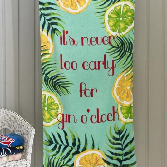 Gin O'Clock Beach Towel