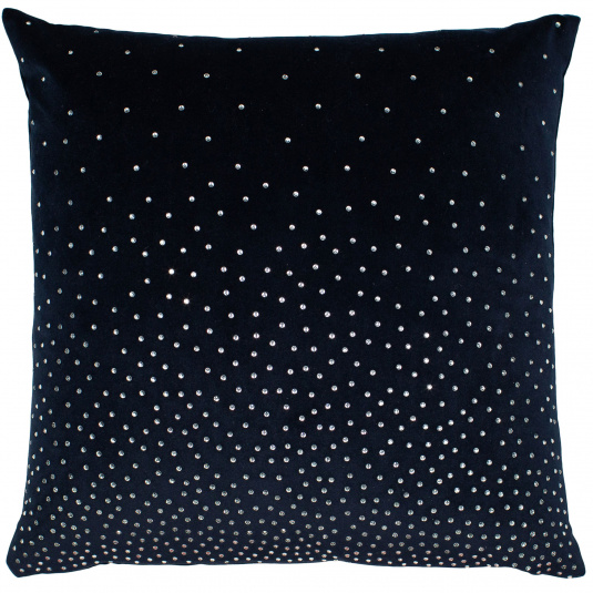 Malini Navy Diamante Velvet Cushion