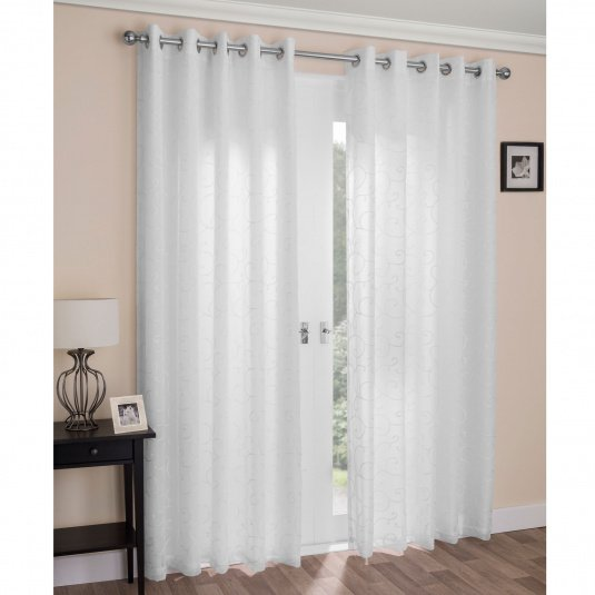 Tyrone Textiles Wenice White Curtains