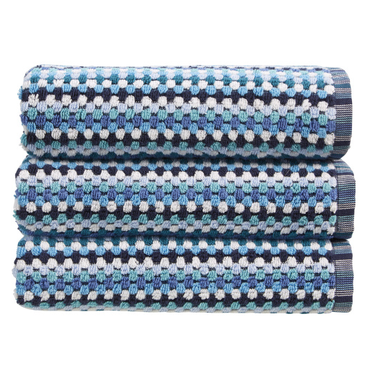 Christy Carnaby Stripe Blue Hand Towel