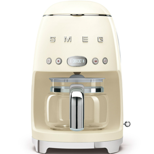 Smeg 50's Retro Style Cream Coffee Machine