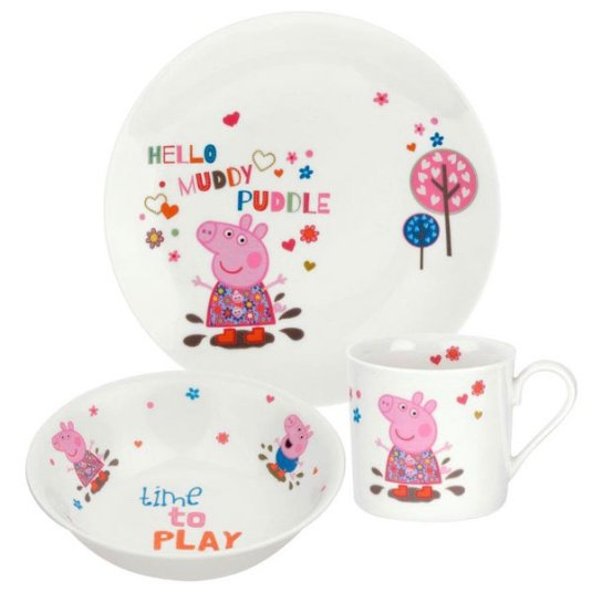 Portmeirion Peppa Pig 3 Piece Breakfast Set
