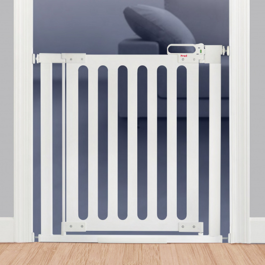 Fred Pressure Fit White Wooden Stair Gate