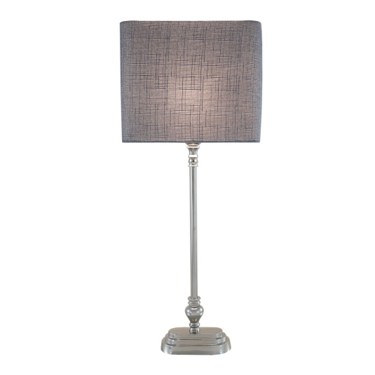 Nickel Candlestick Tall Table Lamp Base