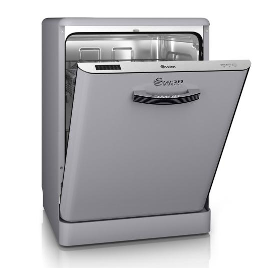 Swan Retro Grey Dishwasher