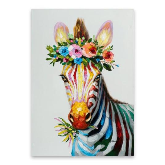 Colourful Zebra Canvas