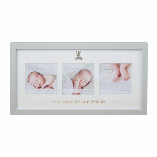 "Bambino Welcome to the World Triple Photo Frame 4"" x 4"""
