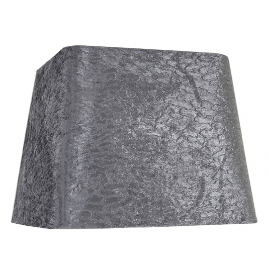 Dual Fitting 10 Inch Grey Stone Velvet Square Lamp Shade
