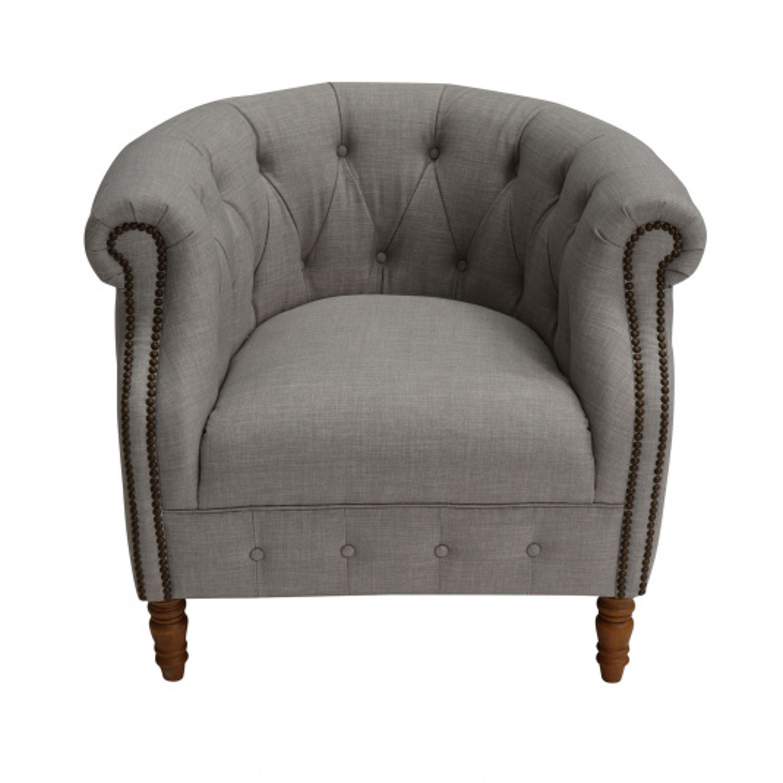 Jasper Rural Smoke Fabric Armchair