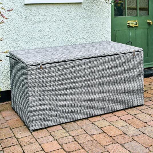 Marbella Stone Rattan Garden Storage Box - Lifestyle | Housing Units