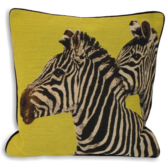 Riva Paoletti Twin Zebra Lime Cushion
