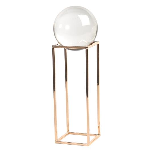 Large Crystal Ball on Gold Frame