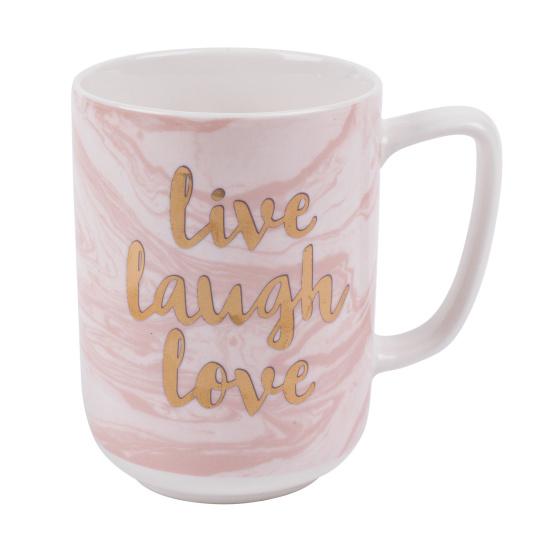 Marbled Mug Live Laugh Love