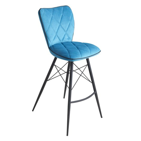 Austin Teal Fabric Bar Stool