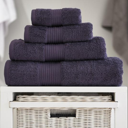 Bliss Aubergine Bath Sheet