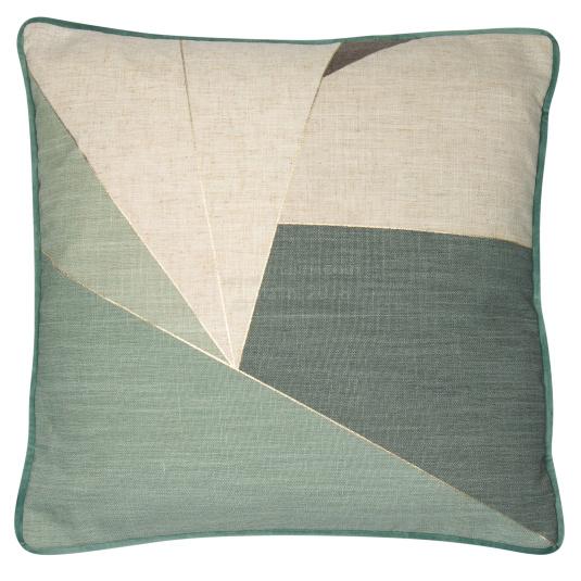 Malini Shatter Green Cushion