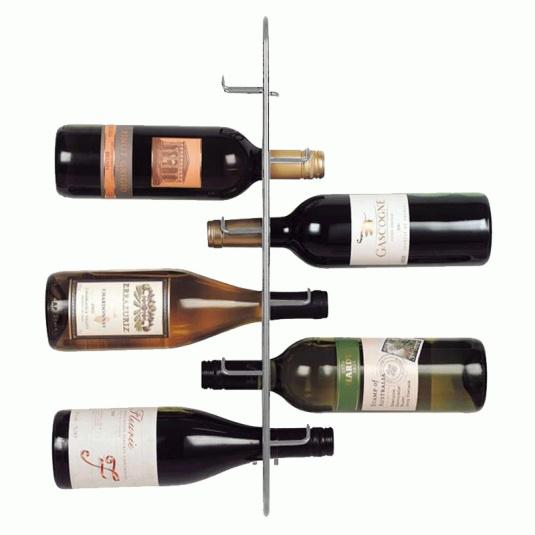 Sloane & Ebury Silver Navarre 6 Bottle Wine Rack