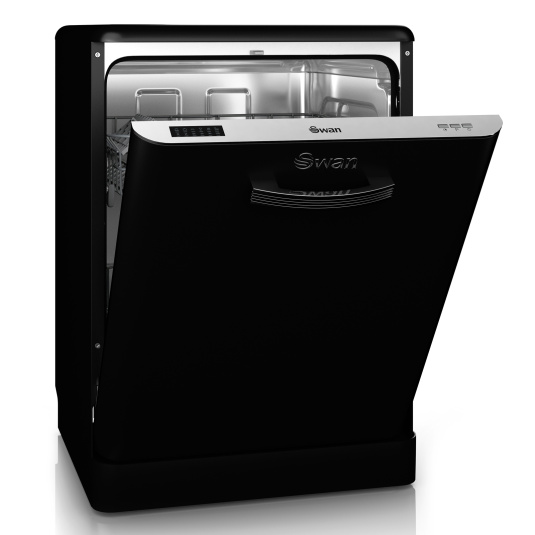 Swan Retro Black Dishwasher