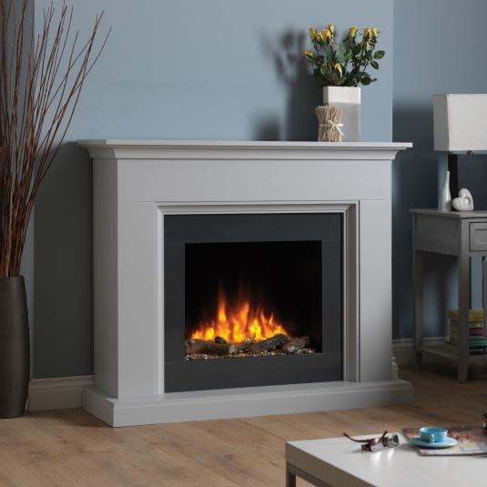 Amalfi Grey Electric Fireplace Suite