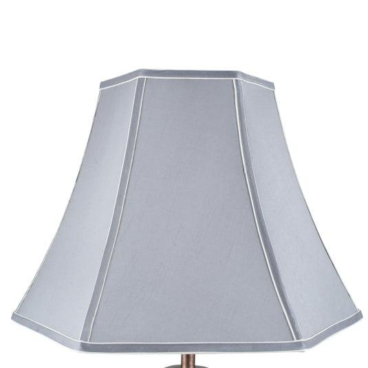 40cm Grey Polysilk Bowed Light Shade