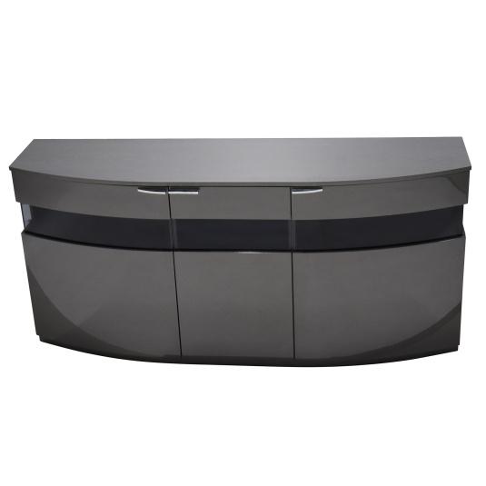 Avantgarde Plus 3 Door Grey Sideboard