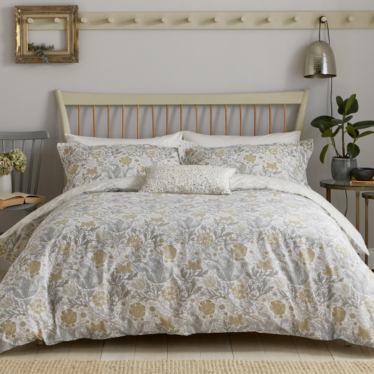 Morris & Co Compton Grey Kingsize Duvet Set