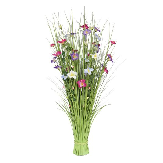 Multi Coloured Grass and Flower Bundle