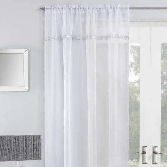 Ibiza White 55x90 Voile Panel
