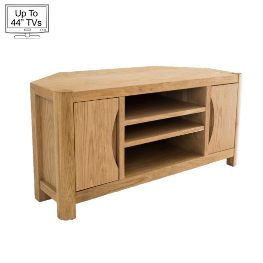 "Oslo Light Oak Corner TV Stand for up to 44"" TVs"
