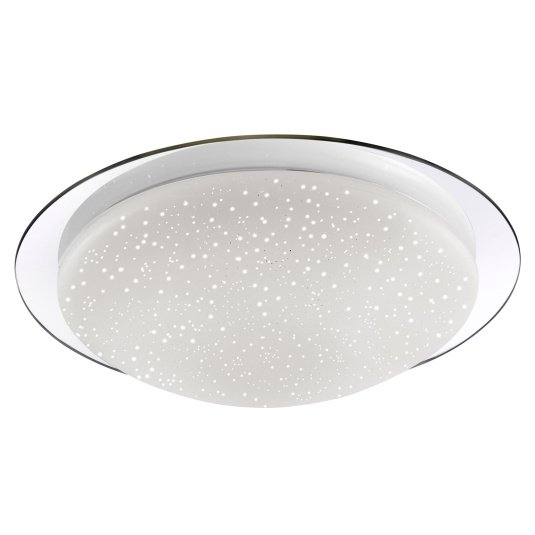 Skyler Chrome Flush Ceiling Light
