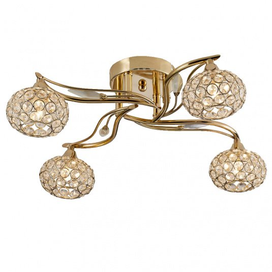 Leimo Gold and Crystal Ceiling Light