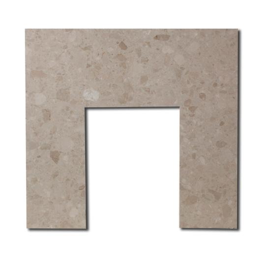 Botticino Cream Marble Fireplace Back Panel