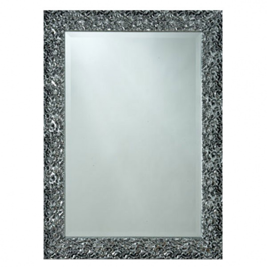 Graphite Lava Mirror Large