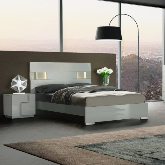 Essence Grey Lacquer Bedroom Collection