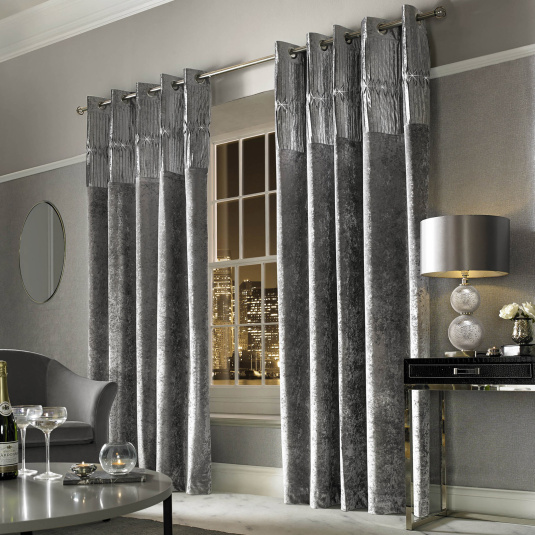 Kylie Minogue Veda Silver 90x90 Curtains
