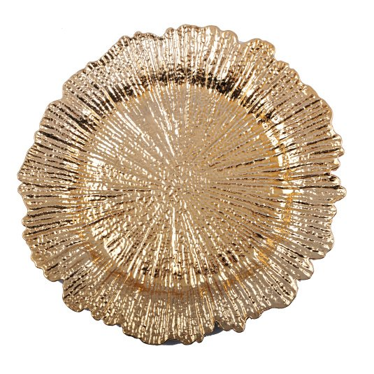 Gold Flower Charger Plate   Housing Units