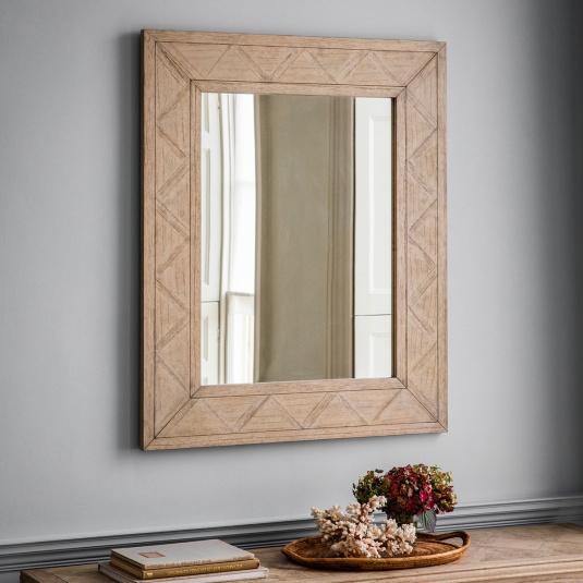 Bordeaux Mindy Wood Wall Mirror