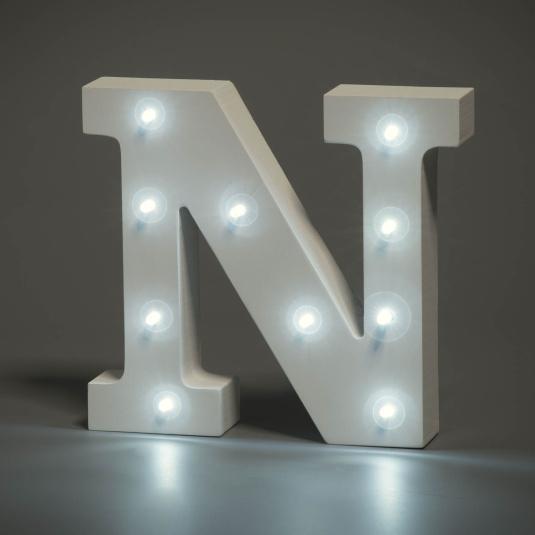 Light Up Letter - N