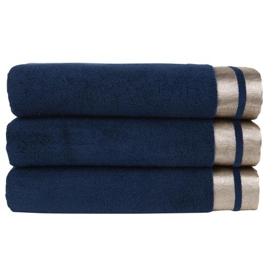 Christy Mode Ink & Rose Gold Hand Towel