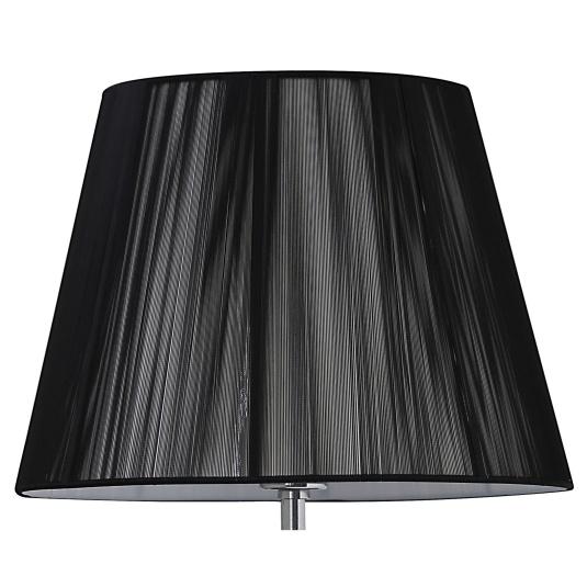 Silk String 14 Inch Black Semi Round Lamp Shade