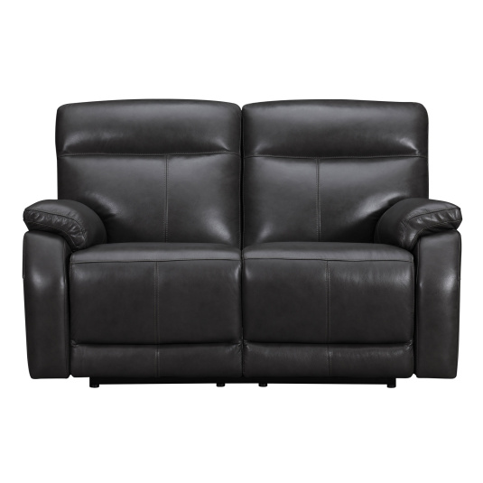 Lativo Anthracite Leather 2 Seater Electric Sofa