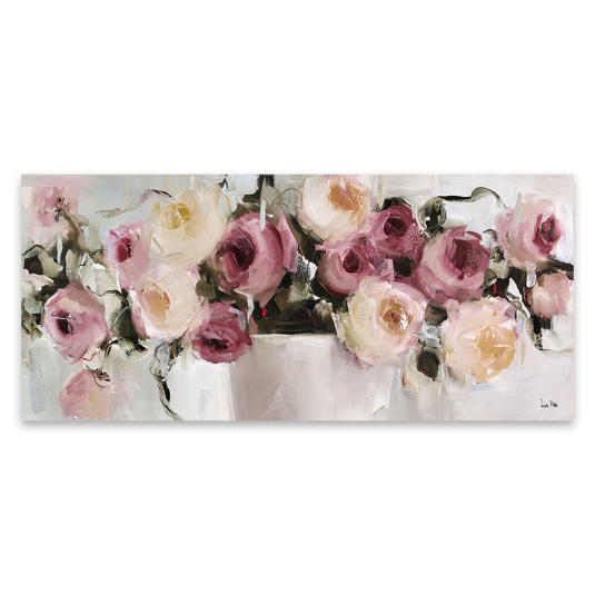 Pastel Roses Canvas by Nicole Pletts
