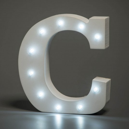 Light Up Letter - C