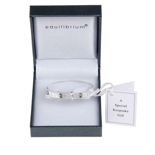 Equilibrium Silver Baby Bangle
