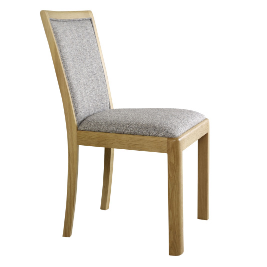 Oslo Light Oak Dining Chair with Fabric Seat and Backrest