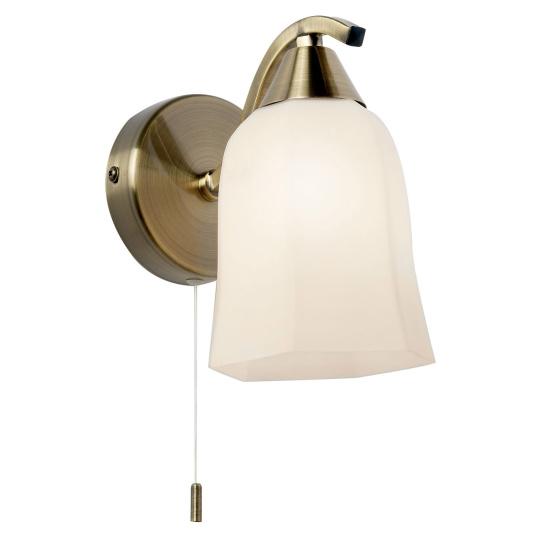 Alonso Antique Brass 1 Light Wall Light