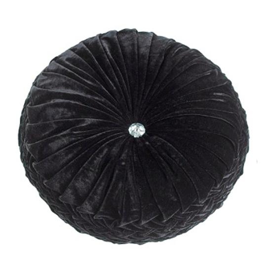 Riva Paoletti Paris Round Cushion Black