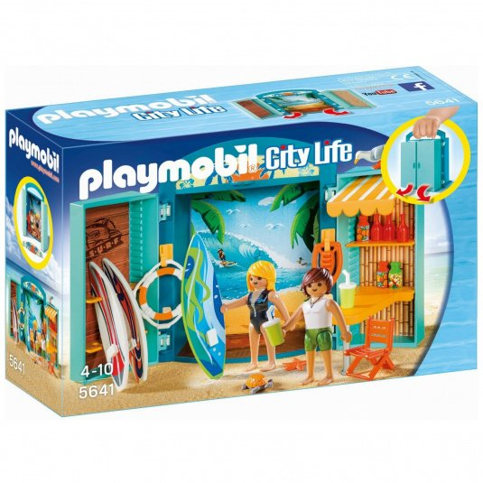 Playmobil City Life Surf Shop Play Box