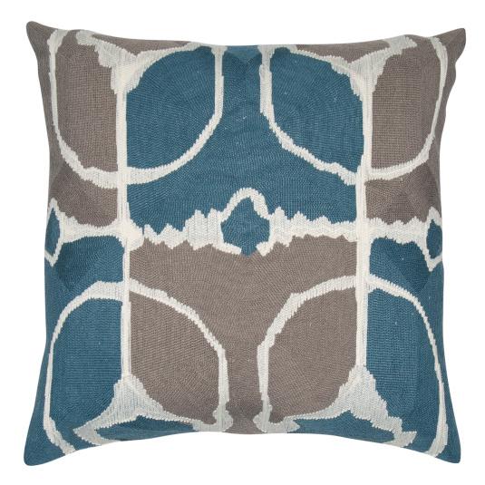 Malini Rumble Teal Abstract Cushion