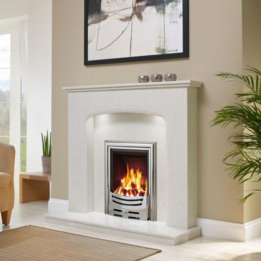 Oakville Manilla Micro Marble Fireplace